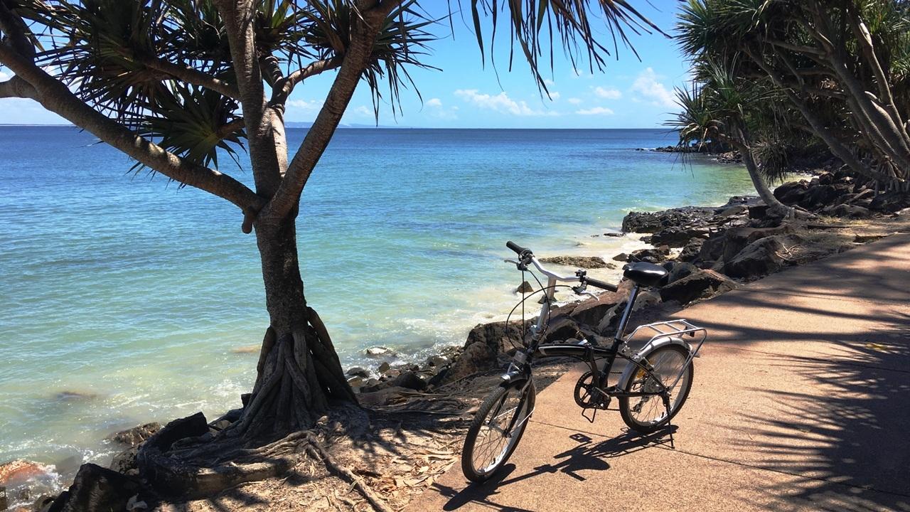 Biking at Noosa