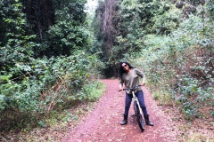Biking in the adjoining state forest